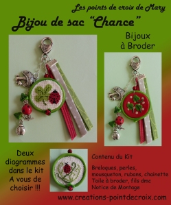 "Bijou ""Chance"" à broder"