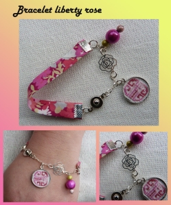 montage blog bracelet fleur metal