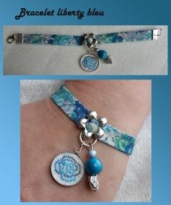 montage blog bracelet liberty bleu