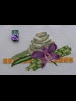 Orchidée et galet