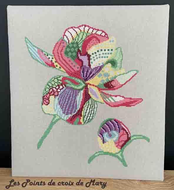 Fleur patch posé M montage